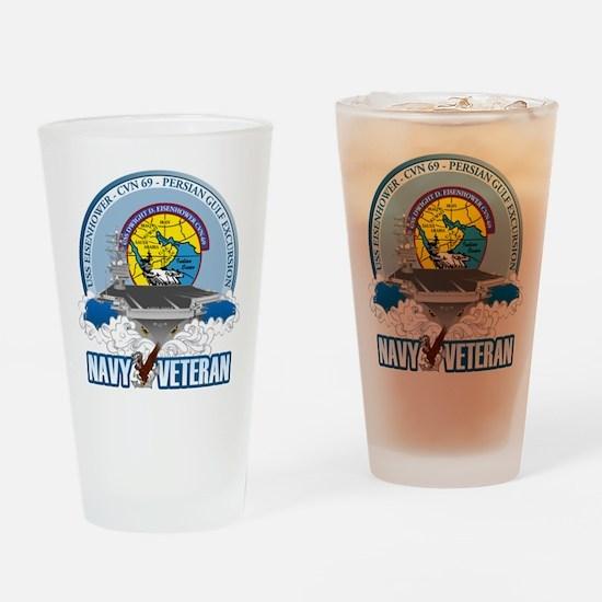 CVN-69 Persian Gulf Drinking Glass