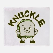 Funny Knuckle Sandwich Throw Blanket