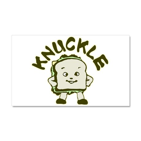 Funny Knuckle Sandwich Car Magnet 20 x 12