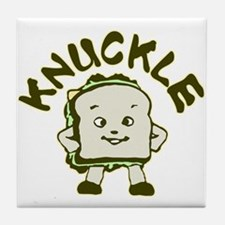 Funny Knuckle Sandwich Tile Coaster