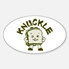 Funny Knuckle Sandwich Sticker (Oval)