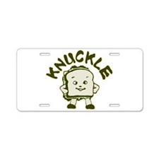 Funny Knuckle Sandwich Aluminum License Plate