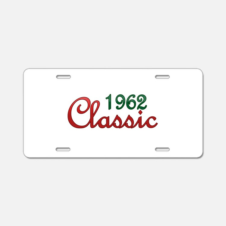 Cute 1962 Aluminum License Plate