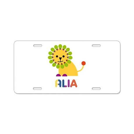 Alia the Lion Aluminum License Plate