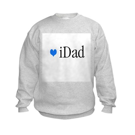 iDad Blue Father & Baby Kids Sweatshirt
