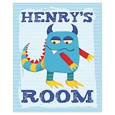 Henry's ROOM Mallow Monster Poster