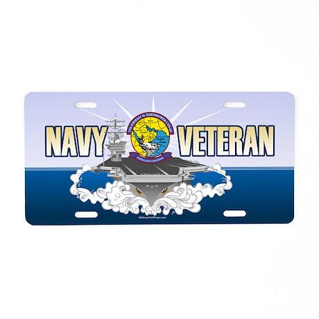 CVN-69 Persian Gulf Aluminum License Plate