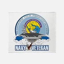 CVN-69 Persian Gulf Throw Blanket