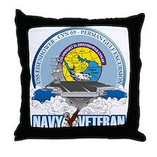 CVN-69 Persian Gulf Throw Pillow