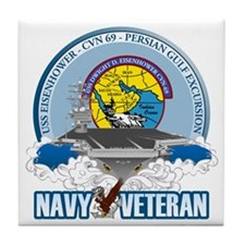 CVN-69 Persian Gulf Tile Coaster