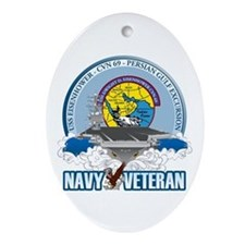 CVN-69 Persian Gulf Ornament (Oval)