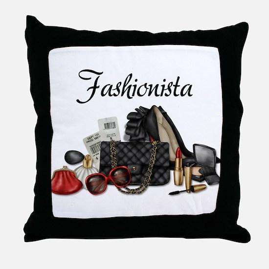 Fashionista Throw Pillow