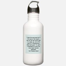 Carl Friedrich Gauss quote Water Bottle