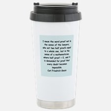 Carl Friedrich Gauss quote Travel Mug