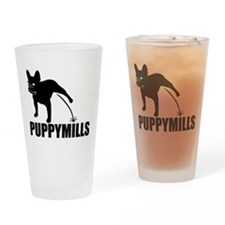FRENCHIE [pee on] PUPPYMILLS Drinking Glass
