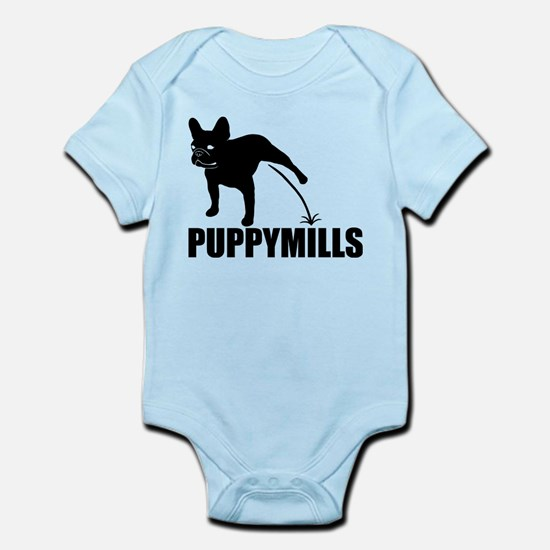 FRENCHIE [pee on] PUPPYMILLS Infant Bodysuit