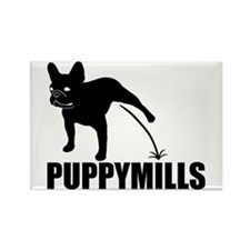 FRENCHIE [pee on] PUPPYMILLS Rectangle Magnet