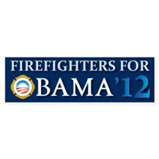 Firefighters for Obama 2012 Bumper Bumper Sticker