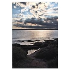 Late Afternoon in Beavertail Framed Print