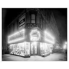 Corner Store At Night, 1920 Poster