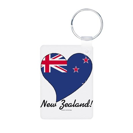 Heart New Zealand (World) Aluminum Photo Keychain