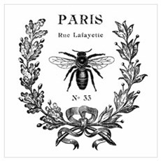 PARIS Bee Framed Print
