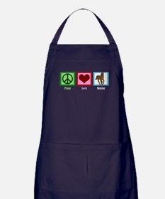 Peace Love Horses Apron (dark)