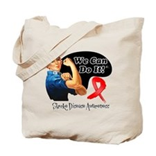 Stroke Awareness We Can Do It Tote Bag