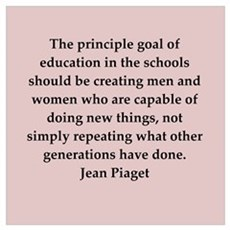 Jean Piaget quotes Framed Print
