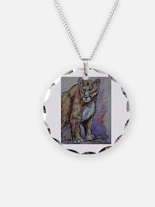 Wildlife, mountain lion, art, Necklace