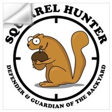 Squirrel Hunter Wall Decal