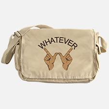 Funny Whatever Attitude Messenger Bag