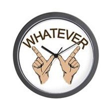 Funny Whatever Attitude Wall Clock