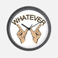 Funny Whatever Attitude Wall Clock