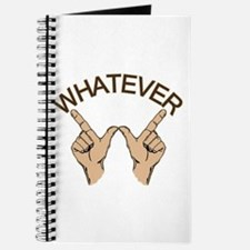 Funny Whatever Attitude Journal