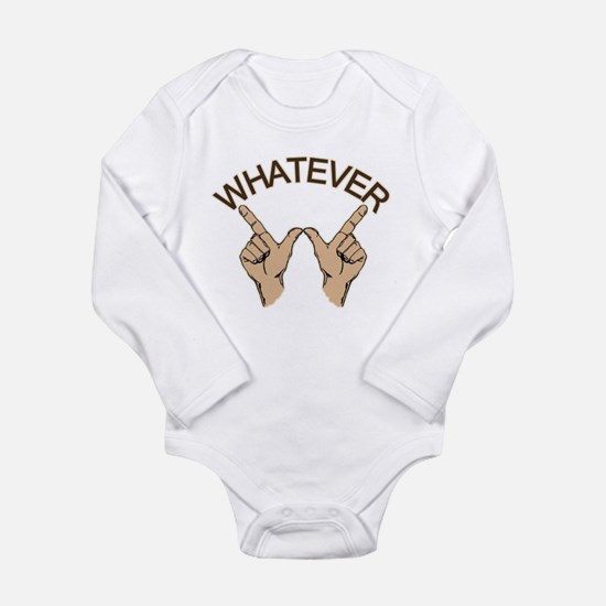 Funny Whatever Attitude Long Sleeve Infant Bodysui