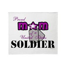 Proud Soldier's Mom Throw Blanket