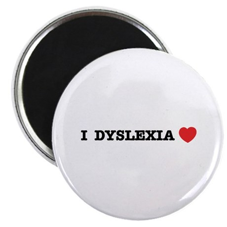 """I DYSLEXIA LOVE 2.25"""" Magnet (10 pack)"""