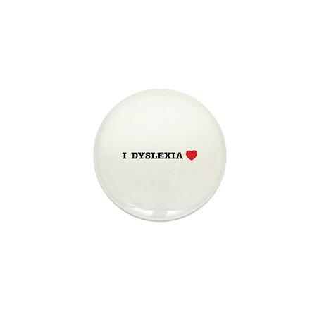 I DYSLEXIA LOVE Mini Button (100 pack)