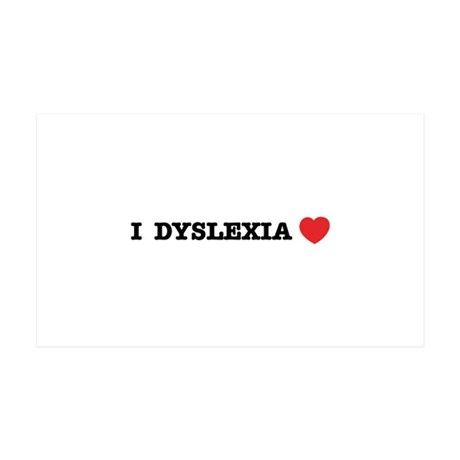 I DYSLEXIA LOVE 38.5 x 24.5 Wall Peel