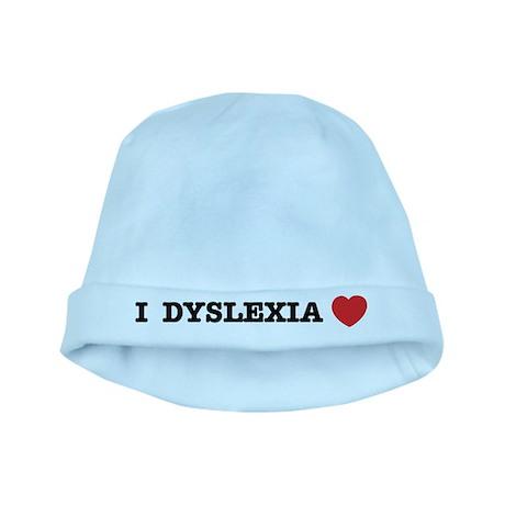 I DYSLEXIA LOVE baby hat