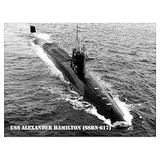 USS ALEXANDER HAMILTON Poster