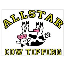 allstar cow tipping Poster