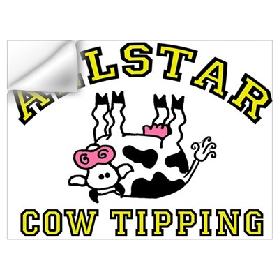 allstar cow tipping Wall Decal