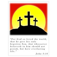 John 3:16 Christian Poster