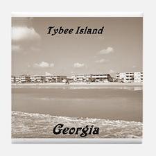 Tybee Island Georgia 18 Tile Coaster