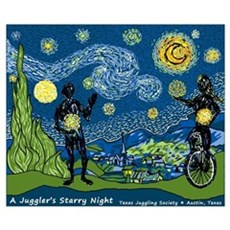 """A Juggler's Starry Night (16""""x20"""" Poster"""