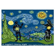 "A Juggler's Starry Night (16""x20"""