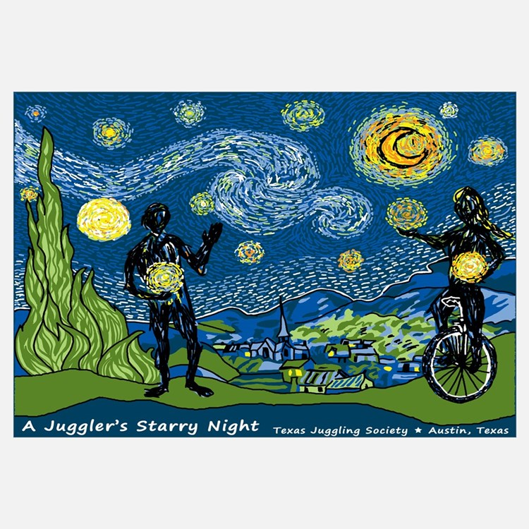 "A Juggler's Starry Night (16""x20"""