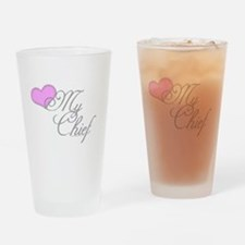 Heart my Chief (Navy Ladies) Drinking Glass